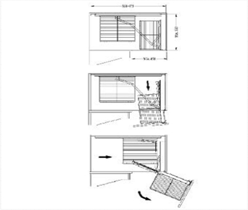 Corner Unit with easy out