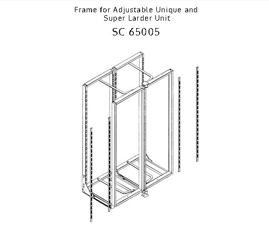 Frame for Adjustable Unique Larder
