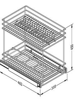 rak piring dan botol tarik vitco sc 29021 aksesoris On ukuran rak piring kitchen set