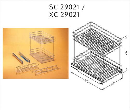 Rak Piring Kitchen Set: Rak Piring Dan Botol Tarik Vitco SC 19021