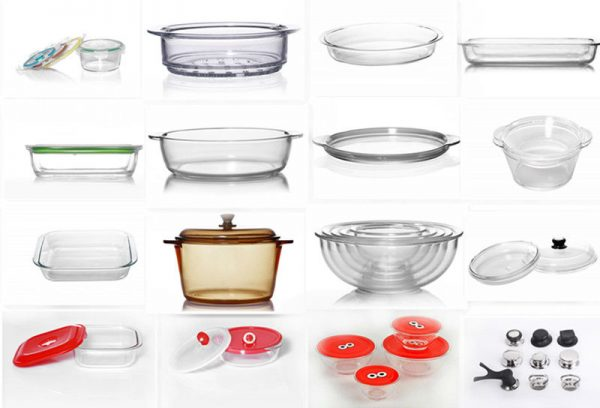 peralatan dapur dari kaca