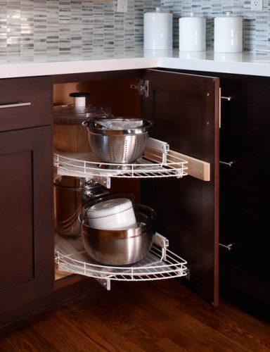 aksesoris dapur modern rak sudut penyimpanan panci