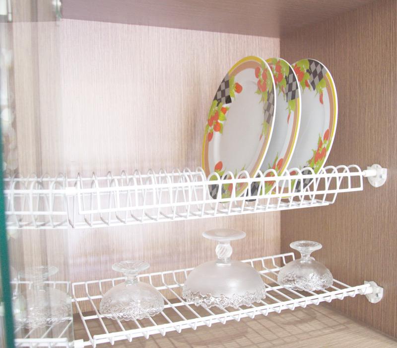 Rak Piring Kitchen Set: Rak Piring Gantung Plastik Putih P60L