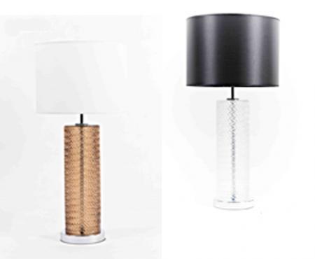 Lampu Meja Type 6-0198 c/w 25 watt bulb Brown, Grey, Clear Glass